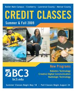Credit Schedule - Spring & Fall 09